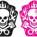 Skull and Pistons — Stock Vector #9499155