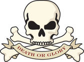 Death or Glory Skull logo — Stock Vector