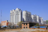 Heihe (China). New residential buildings — Stock Photo