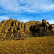 Quaint stone ridge in the semi-desert (Tuva) — Stock Photo