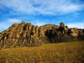 Quaint stone ridge in the semi-desert (Tuva) — Stock Photo