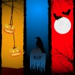 Royalty-Free Stock Vektorfiler: Halloween backgrounds