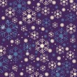 Stock Vector: Snowflakes blue background
