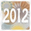 2012 on abstract background — Stock Vector