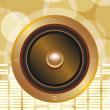 Stock Vector: Gold speaker