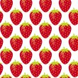 Stock Vector: Strawberry repeatable seamless pattern