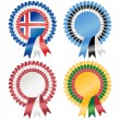Northern Europe Rosettes — Stock Vector