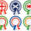 Stock Vector: Six Nations Rosettes
