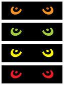 Animal Eyes — Stock Vector