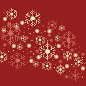 Snowflakes red background — Stockvector