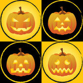 Pumpkin faces — Stock Vector