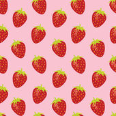 Strawberry random repeatable seamless pattern — Stock Vector