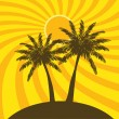 Stock Vector: Palm trees