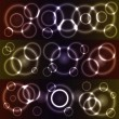 Bokeh glowing circles — Stock Vector