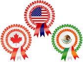 North American Rosettes — Stock Vector