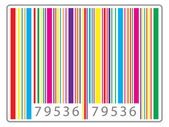 Multi colored barcode — ストックベクタ