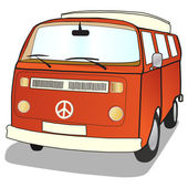 Campervan — Stock Vector