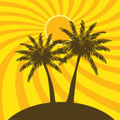 Palm trees — Stock Vector