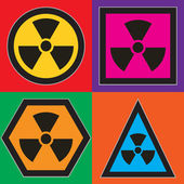 Nuclear symbols — Stock Vector