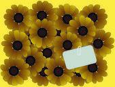 Blumenstrauß mit nachrichtenbezeichner — Stockvektor