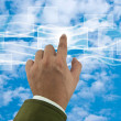 Cloud computing concept with business hand — Stock Photo