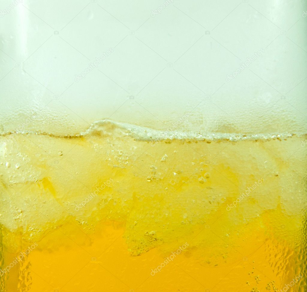 Close up of beer with ice — Stock Photo #10269660
