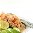 Fried rice with shrimp - Stock Photo