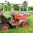 Old farm machinery equipment - Stock Photo