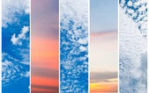 Collection of vertical sky banners — Stock Photo