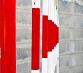 Trafik staket — Stockfoto