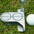 Stock Photo: Golf ball and putter