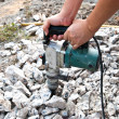 Hammer drill for boring concrete - Stock Photo