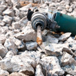 Hammer drill for boring concrete - Stockfoto