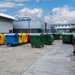 Stock Photo: Plastic bins in recycle center