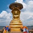 Statue of Buddhwith blue sky in Thailand — Stock Photo #10415682