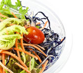 Healthy salad in glass bowl — Stock Photo