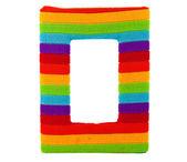 Rainbow photo frame isolated on white background — Stock Photo