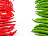 Hot chili peppers and empty space for your text — Stock Photo
