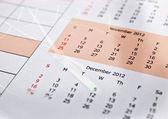 Composiet van klok en kalender — Stockfoto