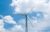 Wind turbine on the sky background — Stock Photo