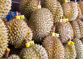 Durian in market — Stock Photo