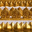 Traditional Thai style art on temple's wall, Thailand - Stock Photo