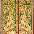 Royalty-Free Stock Photo: Pattern in traditional Thai style art on door of the temple in Thailand