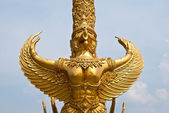 Golden sculpture at Tung Sri Muang park in Ubon Ratchathani province, Thailand. — Stock Photo
