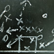 Stock Photo: Football strategy on chalkboard