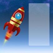 Fondo con un cohete — Foto de Stock