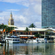 Bayside Park Boats in Miami — Stock Photo