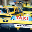 Stock Photo: Line of Taxis