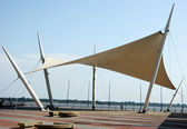 Shade Sail oer the Malecon 2000 — Stock Photo