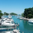 Stock Photo: Boats on Lake Michigan